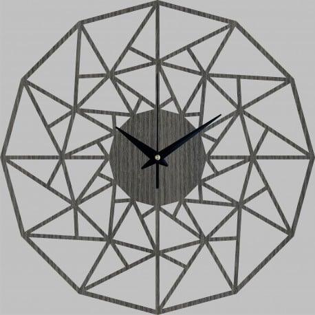 Horloge murale bois triangle pour un intérieur design avec une touche naturelle