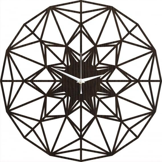 Horloge murale bois arabesque pour un design ultra tendance