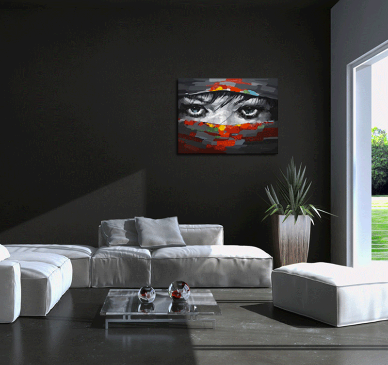 beautiful eyes tableau peinture abstrait. Black Bedroom Furniture Sets. Home Design Ideas