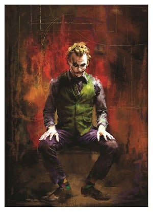 Joker collector canvas prints for interior