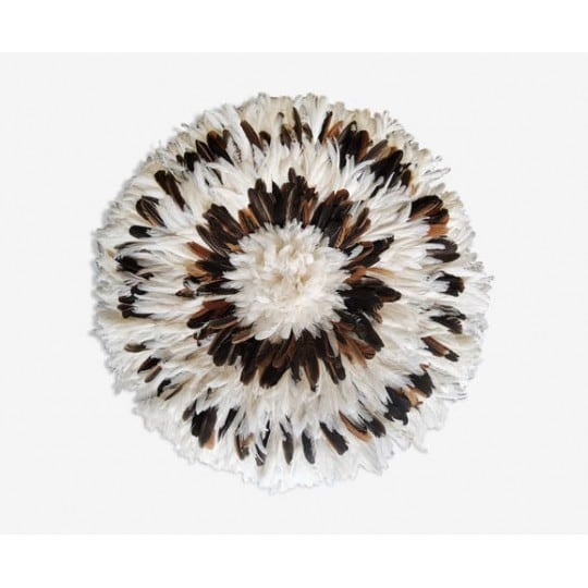 White and brown ethnic juju hat for an african touch in to your decoration