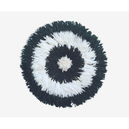 Black and white juju hat for an ethnic interior decoration