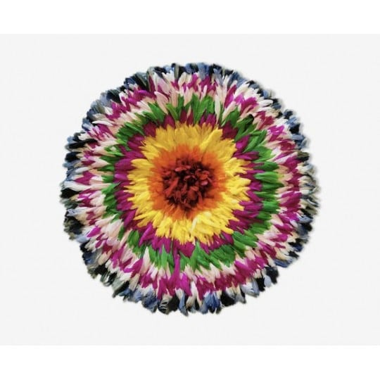 multicolor juju hat with red and yellow for an african wall decoration
