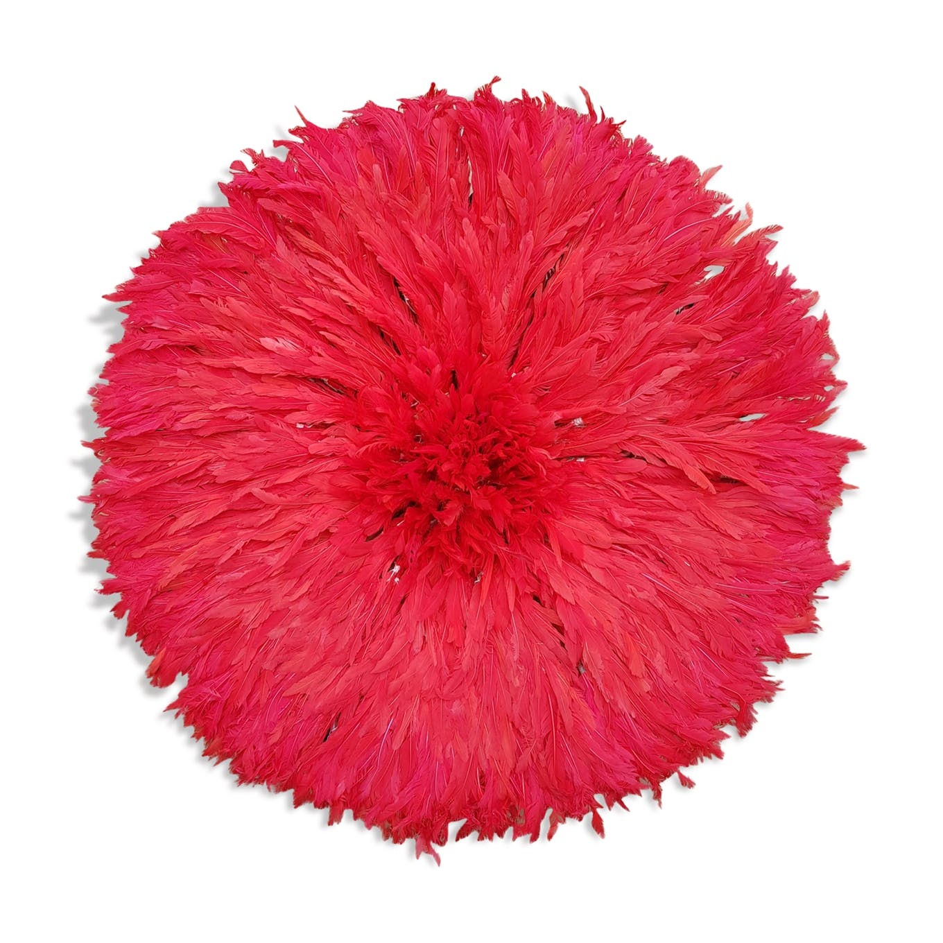 Red juju hat for an ethnic wall decoration