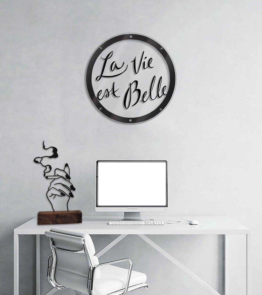 Décoration murale métal la vie est belle pour une touche positive dans votre intérieur