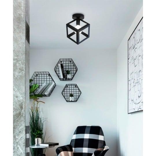 Lampe murale contemporaine au format de cube pour une touche géométrique