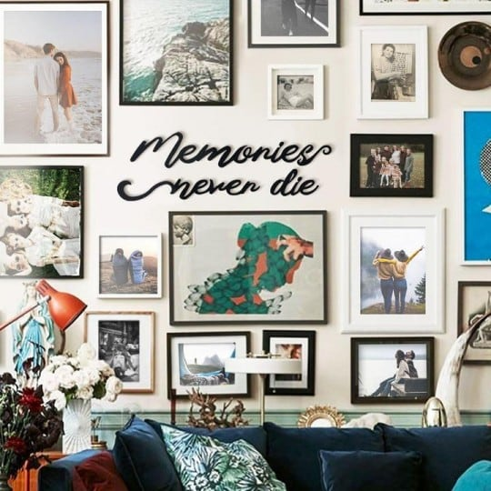 Metal wall decoration of memories never die for an unique interior