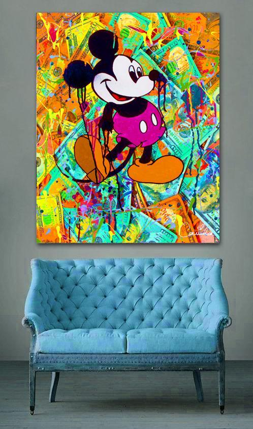 Mickey mouse pop art canvas for a design touch