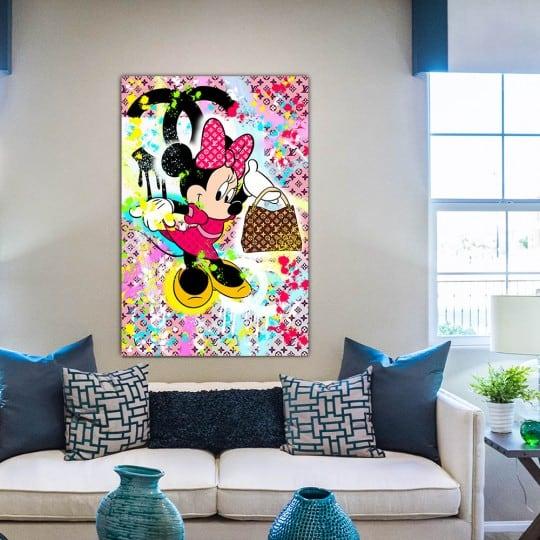 Tableau street art de Minnie en décoration murale contemporaine