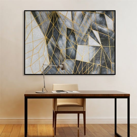 Contemporary gold oil painting on canvas for interior gallery