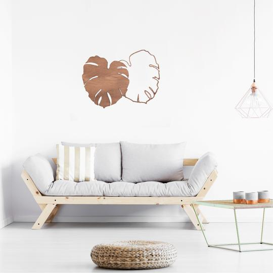 Monstera wooden wall decoration for a jungle and trendy interior