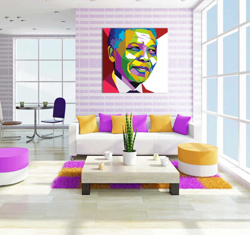 Nelson Mandela people art print