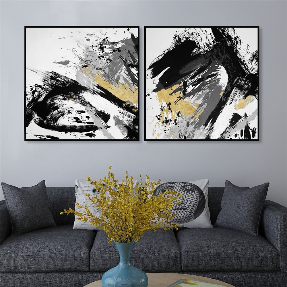 Modern wall painting decoration for original interior