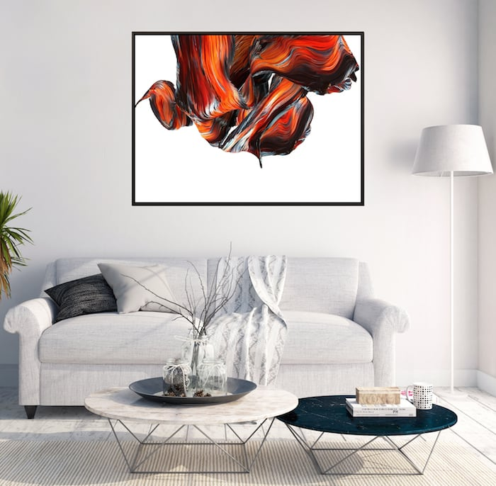 Abstract wall canvas for a modern home decor