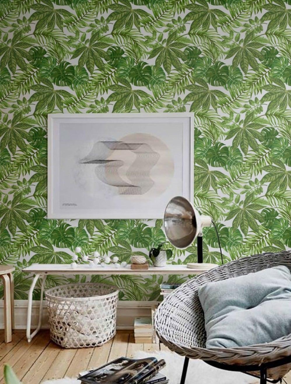 Papier peint aralia pour une déco murale moderne