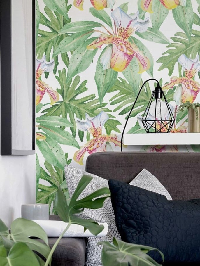 Modern exotic wallpaper for a unique home decor