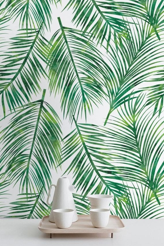 exotic leaf wallpaper for a unique interior