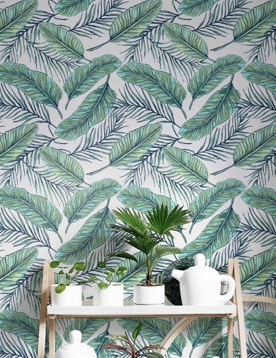 Papier peint au motif tropicale pour une déco murale stylée