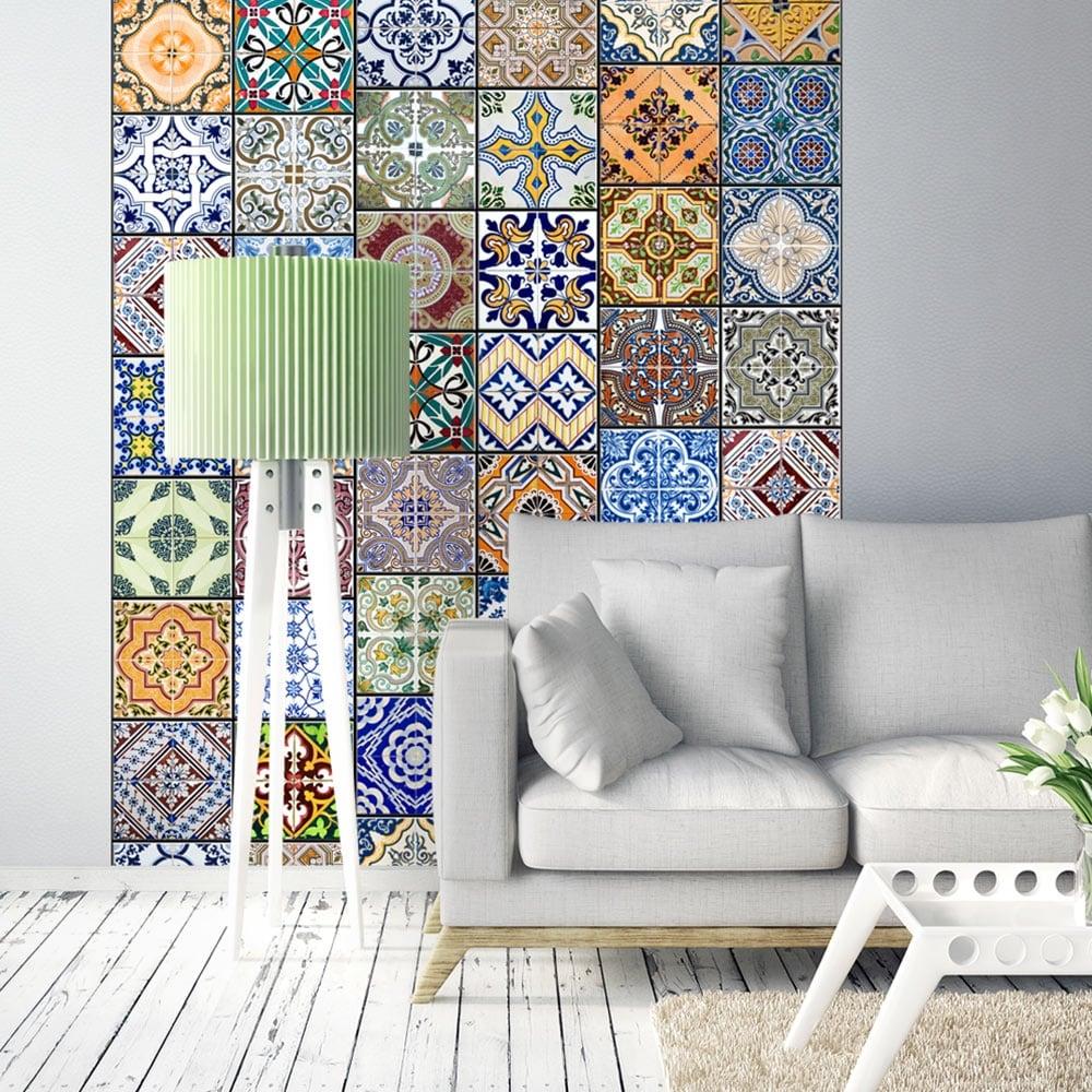 Papier peint mosaique pour créer une décoration murale originale et tendance