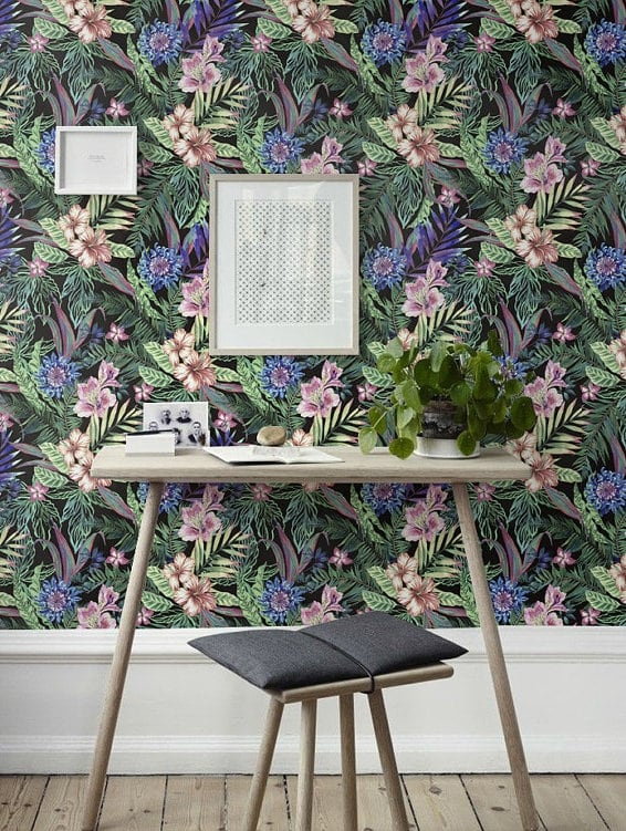 Design plumeria wallpaper from artwall and co collection