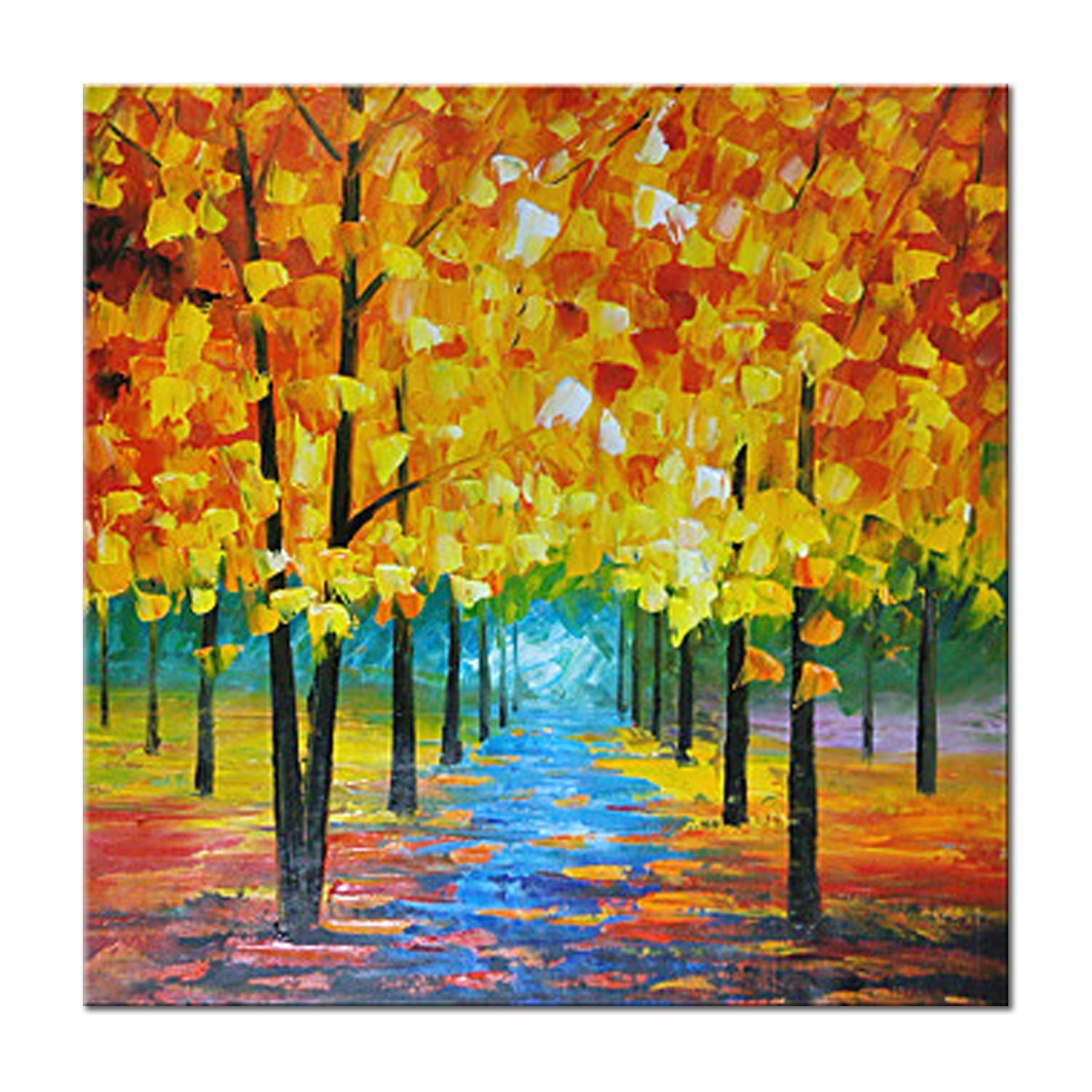 Nature abstract painting for wall decoration