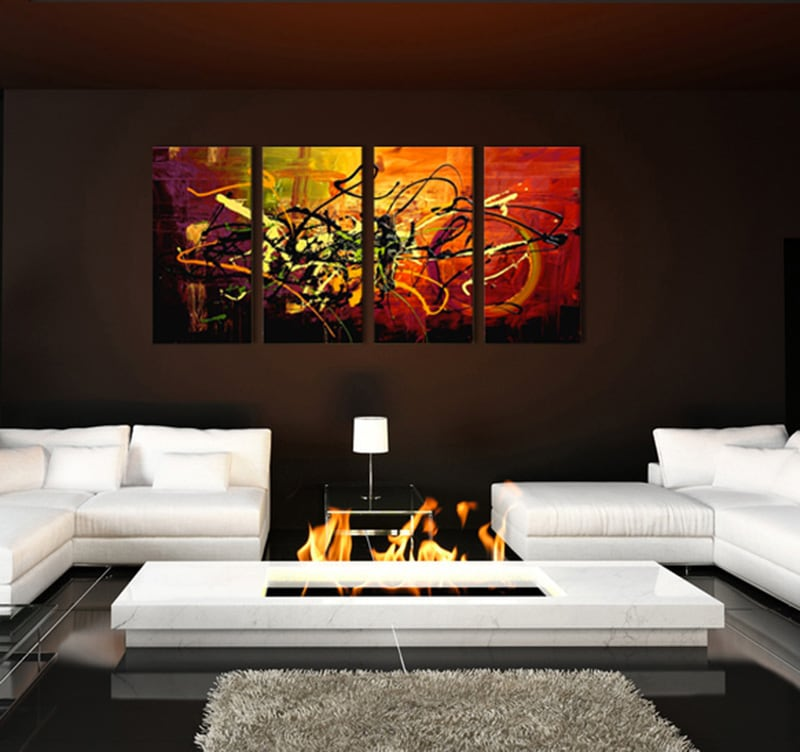 peinture moderne color spray - Tableaux Modernes Colors
