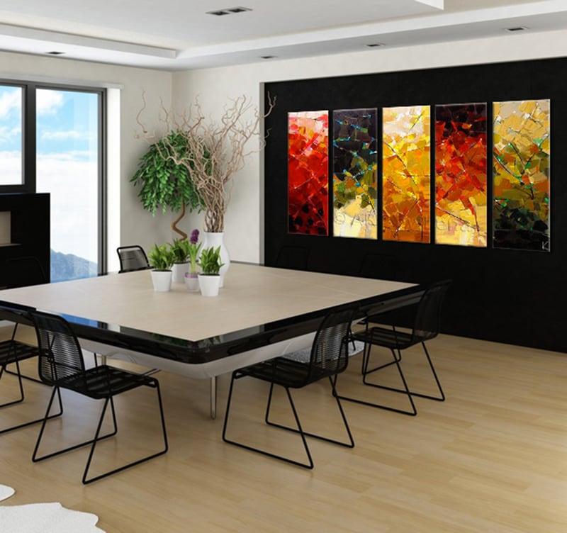 Peinture abstraite moderne four seasons - Tableau de cuisine moderne ...