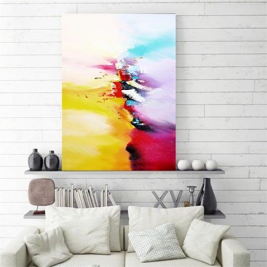 Peinture abstraite sur toile division pour un cadre d'artiste