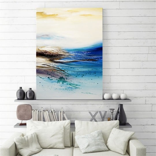 Elipe contemporary oil painting for a stylish interior