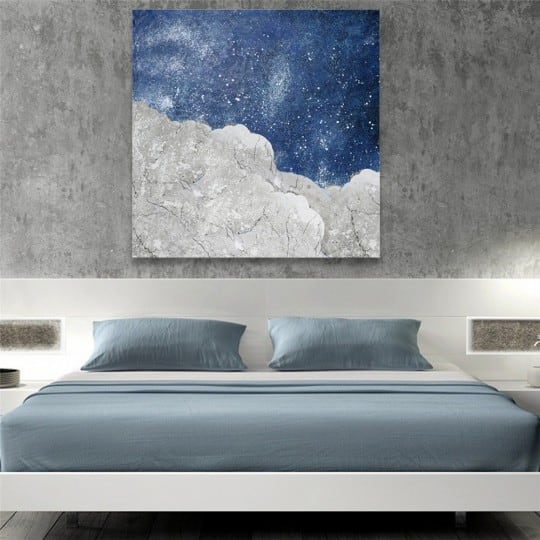 Blue Stars contemporary oil painting on canvas