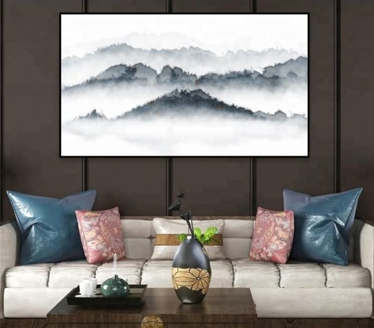 Mountain Modern wall painting for zen decoration