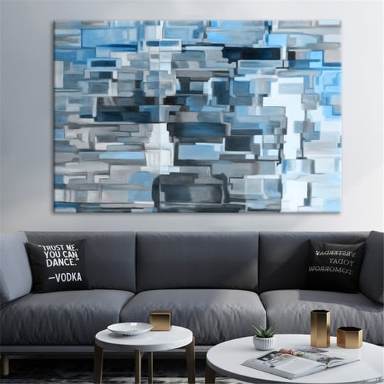 Matrix oil painting on canvas for abstract interior