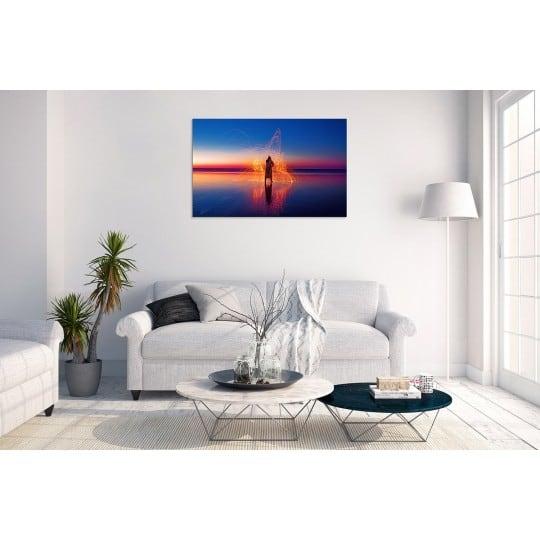 Contemporary art photo on aluminium frame for desing interior