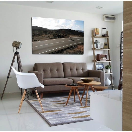 Cycling art photo on aluminium frame for your interior decoration