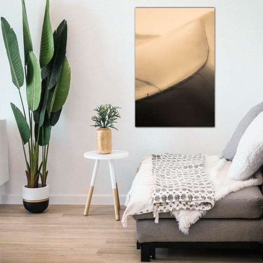 Art photo on aluminium of the dune du pilat for your wall decoration