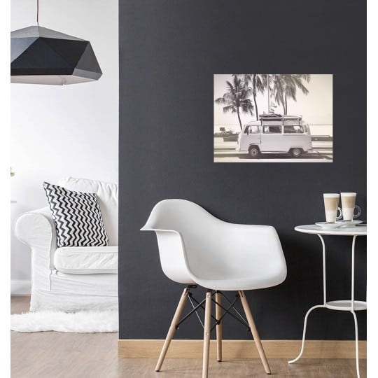 Scandinavian art photo on aluminium for minimalist interior