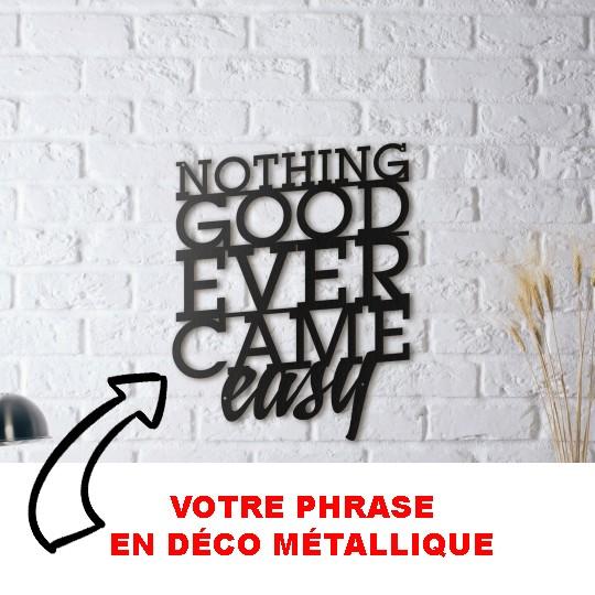 Décoration murale métal personnalisée de phrases ou citation pour votre intérieur