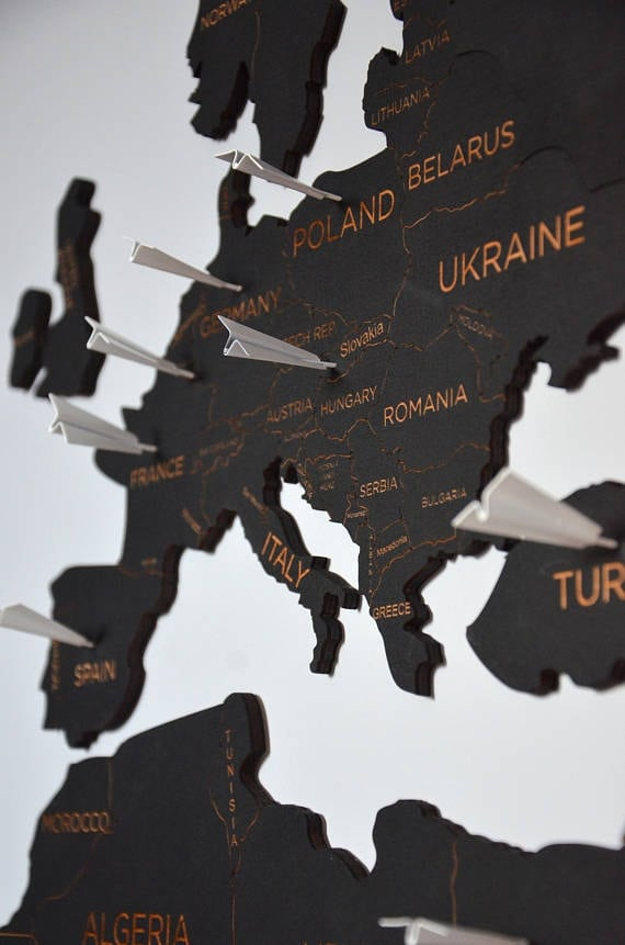 Metal plane pins for all your design wall decoration