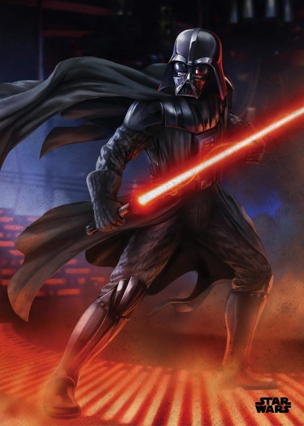 Dark sith metal poster of dark vador for a design interior