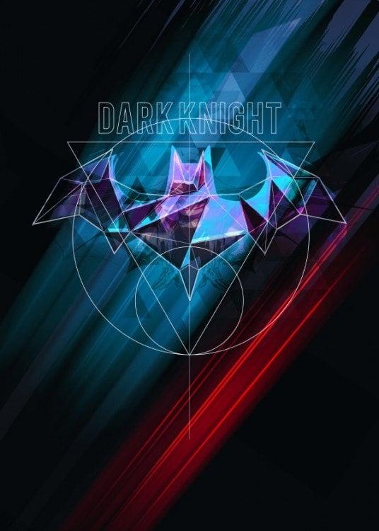 Affiche murale en métal du Dark Knight