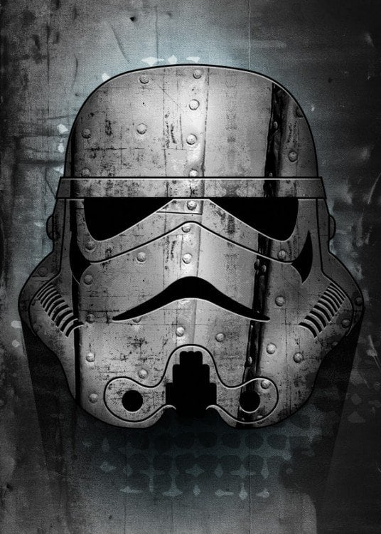Iron Stormtrooper on a wall poster for a design touch