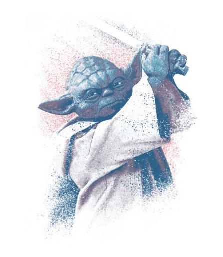 poster métal mural de Yoda le maitre jedi de Star Wars