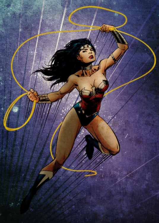 Wonder Woman metal wall poster for decoration
