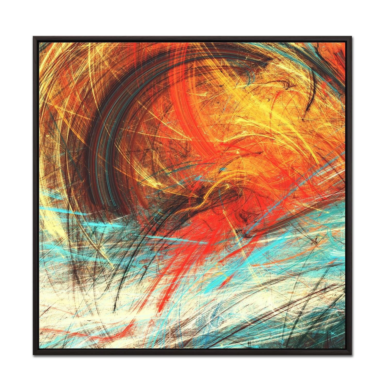 Tableau abstrait au format carré pour un design original