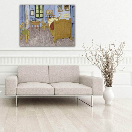 Reproduction painting on canvas on the Bedroom from Van Gogh for your wall decoration art