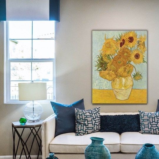 Painting reproduction of the Van Gogh art the Sunflowers