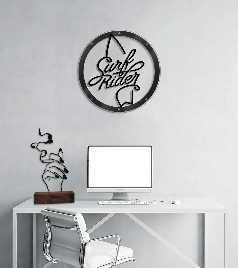 Surf metal wall decoration for a inspiration touch into your interior