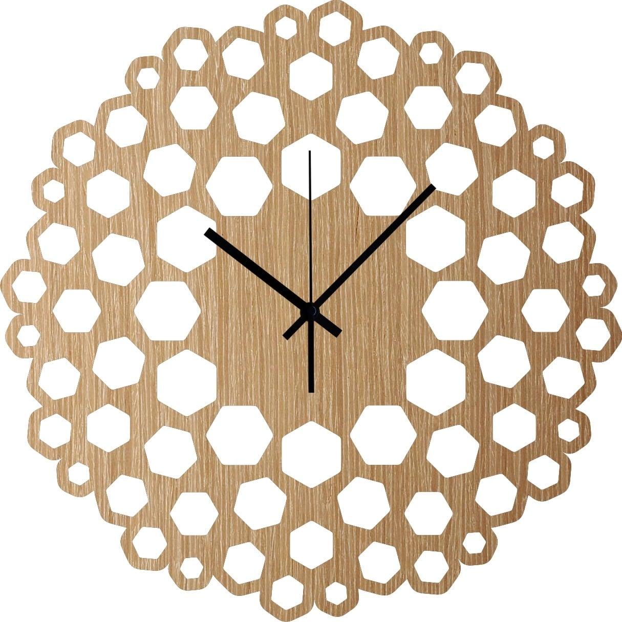 Horloge murale bois scala pour un design tout en rondeur