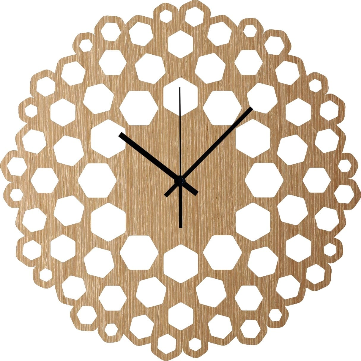 Scala modern wood wall clock for a trendy kitchen