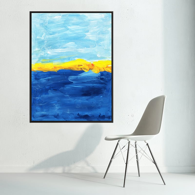 Abstract wall decoration canvas for a unique interior